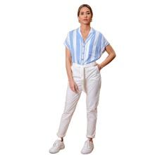 White Plus Size Formal Women Long Pants