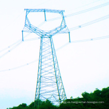 220kv Transmisión de energía de circuito único lineal Torre de hierro
