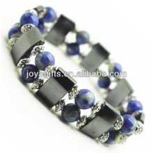 Bracelete magnético do espaço do hematita com liga e 8MM Sodalite Beads redondos