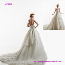 Strapless Embroidered Princess Wedding Dress