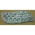 Foglie strass Motif, Hot Fix strass Applique