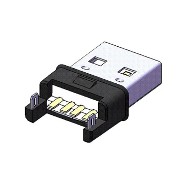 USB A-kontakt SMT Iron Shell LCP-isolator