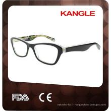 2017 Haute qualité Lady acétate lunettes, nouvelle forme optique cadres en acétate