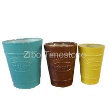 Popcorn Schüssel-Steingut Farbe glasiert (3101)
