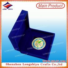 Emaille Zink-Legierung Metall-Münze mit Samt-Box