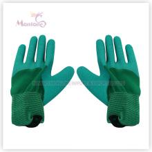 Latex de moitié de 13gauge enduisant / gants trempés de travail de sécurité de jardin de polyester