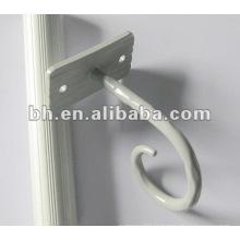 Pintado branco cortina chinesa encaixe pequeno gancho cortina de chuveiro