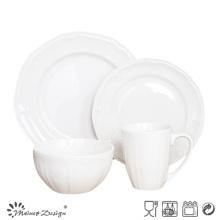 Venta al por mayor blanca de la cena de la porcelana 16PCS