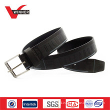 Factory Made OEM Custom Embossed Men PU Belt