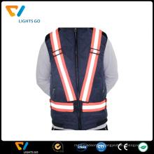 Promotional orange long sleeve reflective safety vest,3m winter reflective vest for wholesale