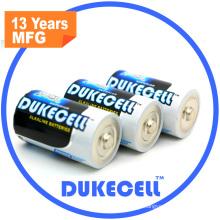 Tamanho alcalino super da bateria D com o revestimento da folha de alumínio