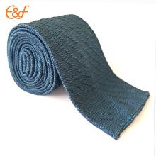 Cravate classique de cravate de sergé tricoté d'hommes Cravates étroites rayées