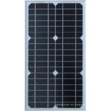 Panel solar mono de 15W para el sistema doméstico