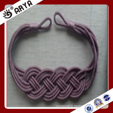 special design handmade woven decorative curtain bind for curtain decoration