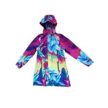 Bunte Hooded PVC Regenmantel für Frau
