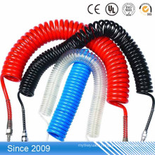 High elasticity colored soft plastic flexible TPU spiral coil printable cable marking tube