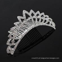 Acessórios de cabelo de cristal pentes de cabelo pente de tiara