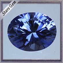 Safira brilhante superior do laboratório do corte brilhante oval da qualidade para a jóia
