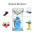 RB-6FTP mode créative jacquard cinq orteils terry chaussette machine à tricoter en vente pour tous les âges