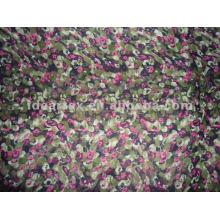 Floral impreso satén tejido de poliéster para modificar-hecho vestido de la señora