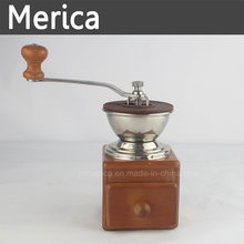 Stainless Steel Muanal Coffer Grinder with Adjustable Burr