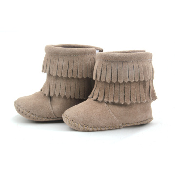 Wholesales Handmade Double-Deck Moccasin Baby Boots