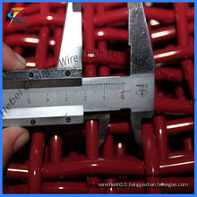Red Crimped Wire Mesh for Mining