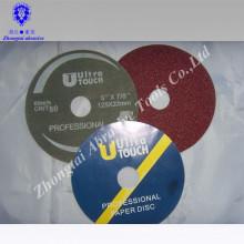 outils de travail du bois abrasif disque de fibre