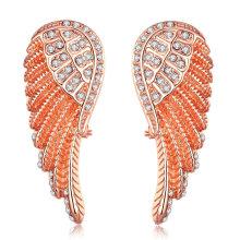 Feather Shape Zircon Women Gold Earrings Diamond Women Earrings