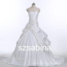 E10031 sleeveless sweetheart neck custom made wedding dress