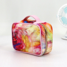Large storage double layers oxford makeups bag cosmetics travel flamingo pattern cosmetic bag