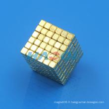 Bloc d'or Neo Magic cube magnétique
