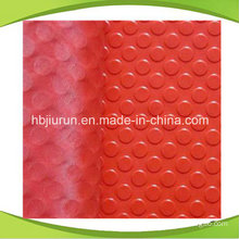 Red Anti-Slip Rubber Sheet with Round Button Pattern