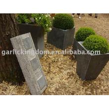 Potenciômetro do jardim da pedra calcária