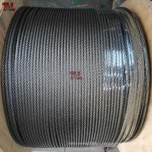 "316 7X7 1/8"" 3/16"" 1/4"" antirouille câble en acier inoxydable"