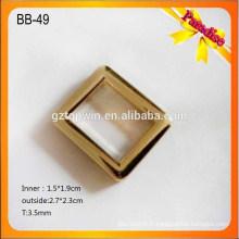 BB-49 Boucles de ceinture personnalisées en or / boucle carrée / boucles décoratives coulées avec logo