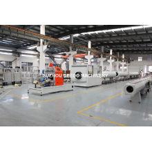 Chaîne de production isolante thermique de tuyau de veste de HDPE Chaîne d'extrusion de tuyau de HDPE
