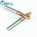 BFL China Factory Carbide Ball Nose End Mill For Metal Working, CNC Metal Cutting Ball Nose End Mills