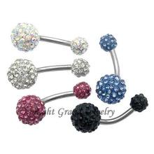 Luxus Multi Stein Shamballa Bauchnabel Ring