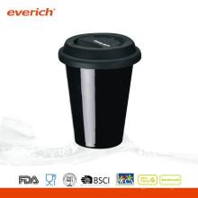 Taza de café de cerámica de encargo de la pared doble de 250ml
