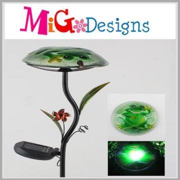 OEM Metal Glass Mushroom Shaped Solar Light Stake