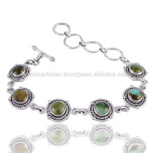 Designer Bracelet Turquoise Gemstone 925 Silver Bracelet Wholesale Jewelry From India