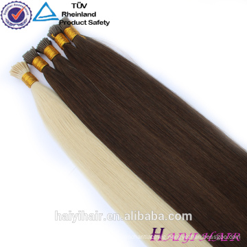 Double Drawn Indian Prebonded Hair Extension 100 Cheap Remy i Tip Hair Extension wholesale