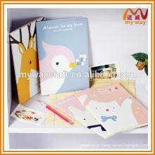 Papelaria coreana por atacado de caderno bonito com capa de desenho animado