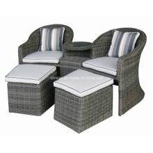 Jardin extérieur de Rotin osier Patio causale bras chaise ensemble