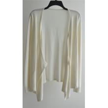 100% algodón de manga larga de color puro puro mujeres de punto de chaqueta