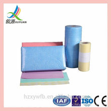 Kitchen Use Colorful spunlace nonwoven cleaning cloths wipes