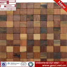 China Foshan mosaic factory wood mosaic tile for wall