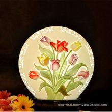 Floral diagram indoor shade lamp ,ceramic shade lamp for hotel