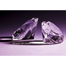 Belo diamante de cristal roxo para presente de casamento